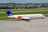 LN-RMH @ LSZH - Douglas DC-9-87 [49612] (SAS Scandinavian Airlines) Zurich~HB 22/07/2004 - by Ray Barber