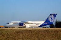 OO-DWI @ LFPG - BAe 146-RJ100 [E3342] (Brussels Airlines) Paris-Charles De Gaulle~F 24/07/2004