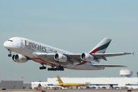 A6-EEU @ DFW - Emirates A380 departing DFW Airport - by Zane Adams