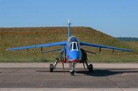 E152 @ LFSX - Dassault Dornier Alphajet E (F-UHRT), N° 09 of Patrouille de France 2015, Static display, Luxeuil-Saint Sauveur Air Base 116 (LFSX) Open day 2015 - by Yves-Q