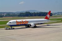 HB-ISE @ LSZH - Boeing 767-3Q8ER [27600] (Belair Airlines) Zurich~HB 22/07/2004 - by Ray Barber