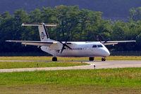 D-BKIM @ LSZA - De Havilland Canada DHC-8-314A Dash 8 [356] (Cirrus Air) Lugano~HB 21/07/2004 - by Ray Barber