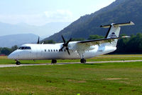 D-BKIM @ LSZA - De Havilland Canada DHC-8-314A Dash 8 [356] (Cirrus Air) Lugano~HB 21/07/2004 - by Ray Barber