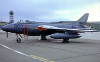 WV256 @ EGDY - Hawker Hunter GA.11 [41H/670762] (Royal Navy) RNAS Yeovilton~G (Date unknown)