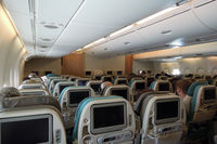 9V-SKN - The spacious cabin of the whale jet (SIN-LHR) - by Micha Lueck
