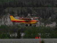 N3884Q @ CXC - N3884Q in landing at Chitina airport AK - by Jack Poelstra