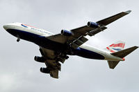 G-BNLU @ EGLL - Boeing 747-436 [25406] (British Airways) Home~G 03/08/2009. On approach 27R.