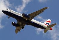 G-EUUV @ EGLL - Airbus A320-232 [3468] (British Airways) Home~G 08/06/2014. On approach 27R.