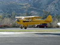 N42330 @ SZP - 1941 Piper J3C-65 CUB, Continental A&C65 65 Hp, landing Rwy 04 - by Doug Robertson
