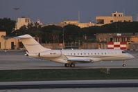 9H-GFI @ LMML - Bombardier BD-700 Global 5000 9H-GFI Private - by Raymond Zammit