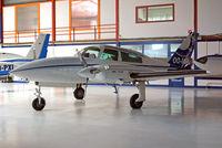 OO-MSN @ EBAW - Cessna T.310R [310R-0562] (Aerodata International Surveys) Antwerp-Deurne~OO 11/08/2010
