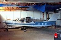 OO-ALW @ EBAW - R/Cessna F.177RG Cardinal RG [0097] Antwerp-Deurne~OO 11/08/2010. Taken through the glass of hangar window.