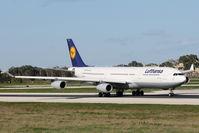 D-AIGL @ LMML - A340 D-AIGL Lufthansa - by Raymond Zammit