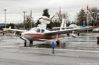 C-GILD @ CYNJ - 1977 Lake Buccaneer tied down at Langley - by James Abbott