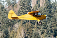 C-FAVB @ CSK8 - Piper PA-17 Vagabond coming in to land at Surrey / King Geroge Airpark, Surrey, BC - by James Abbott