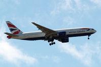 G-VIIM @ EGLL - Boeing 777-236ER [28841] (British Airways) Home~G 12/05/2015. On approach 27L.