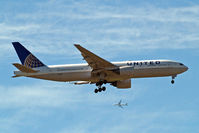 N776UA @ EGLL - Boeing 777-222 [26937] (United Airlines) Home~G 13/05/2015. On approach 27L.