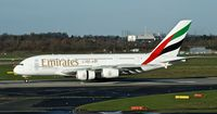 A6-EOB @ EDDL - Emirates, is here rolling on RWY 23L shortly after touch down at Düsseldorf Int'l(EDDL) - by A. Gendorf