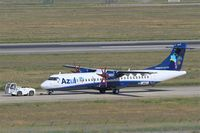F-WWEJ @ LFBO - ATR 72-600, Taxiing to parking area, Toulouse-Blagnac airport (LFBO-TLS) - by Yves-Q