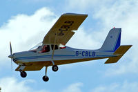 G-CBLB @ EGHP - G-CBLB   Tecnam P.92-EM Echo [PFA 318-13770] Popham~G 03/05/2014 - by Ray Barber