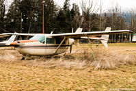 C-FQGO @ CYHE - This Skymaster has not had any attention in a long time. It is in very sad condition at the Hope BC Airport - by James Abbott