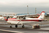 C-GFDK @ CYNJ - Sitting on the tarmac at Langley Regional Airport - by James Abbott