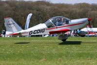 G-CDIG @ EGHP - Aerotechnik EV-97 Eurostar [2004-2208] Popham~G 03/05/2014 - by Ray Barber