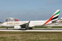 A6-EAK @ LMML - A330 A6-EAK Emirates Airlines - by Raymond Zammit