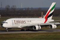 A6-EEJ @ EDDL - Emirates A 380 arriving in Düsseldorf - by Günter Reichwein