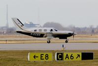 D-ECBE @ EDDP - Small private aircraft on twy A6.... - by Holger Zengler