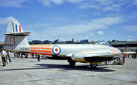 VZ467 @ EGDC - Gloster Meteor F.8 [G5/361641] (Royal Air Force) RAF Chivenor~G 07/08/1971
