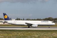 D-AIRD @ LMML - A321 D-AIRD Lufthansa - by Raymond Zammit