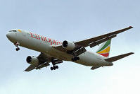 ET-AMF @ EGLL - Boeing 767-3BGER [30563] (Ethiopian Airlines) Home~G 20/09/2007. On approach 27R.