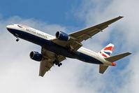 G-VIIG @ EGLL - Boeing 777-236ER [27489] (British Airways) Home~G 22/08/2009. On approach 27R.