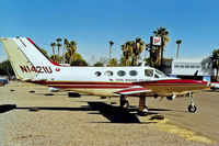 N1421U @ KFFZ - Cessna 421 Golden Eagle [421-0046] (Total Bastard Airlines) Mesa-Falcon Field~N 17/10/1998 - by Ray Barber