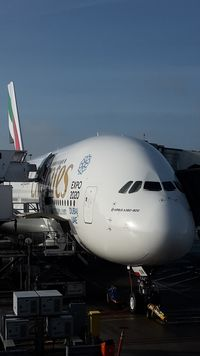 A6-EON @ EHAM - Emirates A388 at its gate G9 getting ready for flight EK148 AMS - DXB - by FerryPNL
