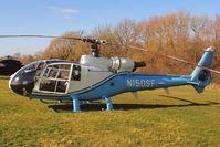 N150SF @ EGBC - Aerospatiale SA.341G Gazelle [1584] (Southern Aircraft Consultancy) Cheltenham Racecourse~G 10/03/2015 - by Ray Barber