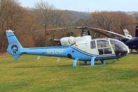 N150SF @ EGBC - Aerospatiale SA.341G Gazelle [1584] (Southern Aircraft Consultancy) Cheltenham Racecourse~G 12/03/2015 - by Ray Barber
