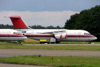 I-FLRO @ EGBP - BAe 146-200 [E2227] (Ex Meridiana) Kemble~G 11/07/2004. Stored pending sale.
