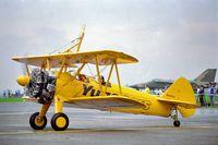N54922 - 1987 RAF Binbrook lincs u.k. wing walking /stunt display aircraft,  sponsored by YUGO Cars u.k. - by glenn1411