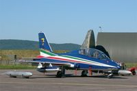 MM55055 @ LFSX - Italian Air Force Aermacchi MB-339PAN, N°7 of Frecce Tricolori Aerobatic Team 2015, Static display, Luxeuil-Saint Sauveur Air Base 116 (LFSX) Open day 2015 - by Yves-Q
