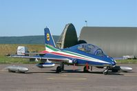 MM54487 @ LFSX - Italian Air Force Aermacchi MB-339PAN, N°8 of Frecce Tricolori Aerobatic Team 2015, Static display, Luxeuil-Saint Sauveur Air Base 116 (LFSX) Open day 2015 - by Yves-Q
