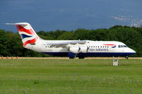 G-CFAH @ LSGG - BAe 146RJ-100 [E3384] (British Airways CitiExpress) Geneva-International~HB 23/07/2004