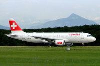 HB-IJN @ LSGG - Airbus A320-214 [0643] (Swiss International Air Lines) Geneva-International~HB 23/07/2004