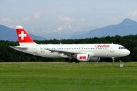 HB-IJL @ LSGG - Airbus A320-214 [0603] (Swiss International Air Lines) Geneva-International~HB 23/07/2004