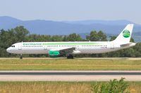 D-ASTP @ LFSB - Airbus A321-211, Taxiing to holding point rwy 15, Bâle-Mulhouse-Fribourg airport (LFSB-BSL) - by Yves-Q