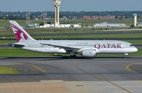 A7-BCD @ FAJS - Qatar B778 taxying-out for departure to Doha. - by FerryPNL