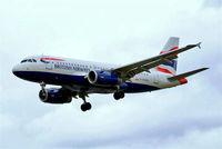 G-EUOA @ EGLL - Airbus A319-131 [1513] (British Airways) Heathrow~G 31/08/2006. On finals 27L.