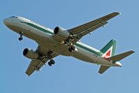 EI-IKU @ EGLL - Airbus A320-214 [1217] (Alitalia) Home~G 09/05/2011. On approach 27R.