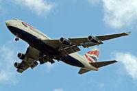 G-CIVG @ EGLL - Boeing 747-436 [25813] (British Airways) Home~G 12/05/2011. On approach 27R.